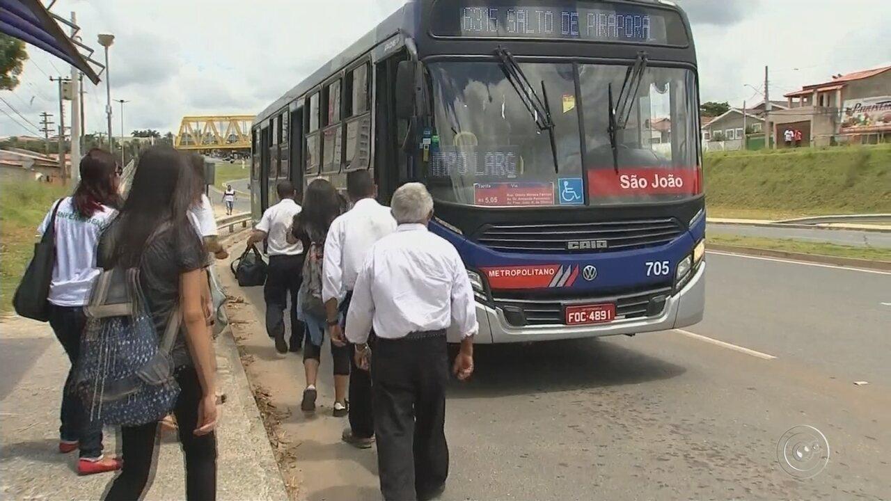 Motoristas da Viação Piracema entram em greve em Salto de Pirapora
