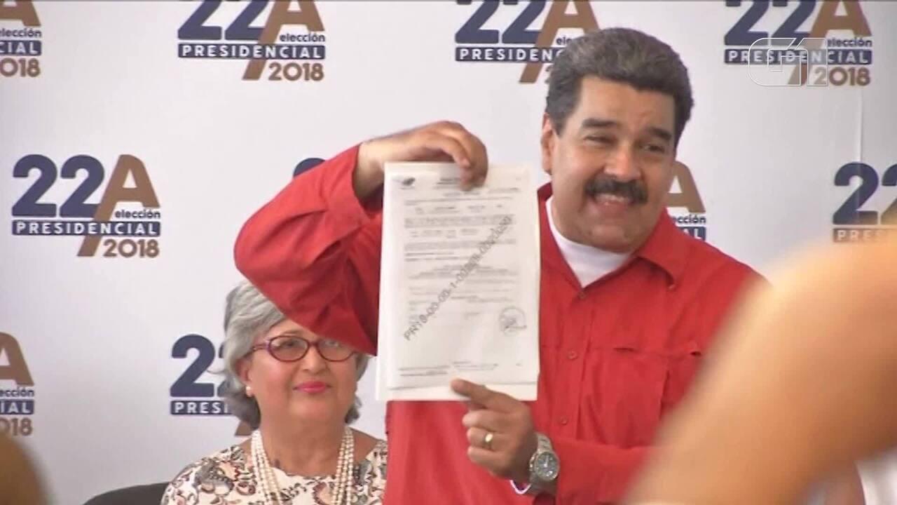 Nicolás Maduro registra candidatura à reeleição presidencial da Venezuela