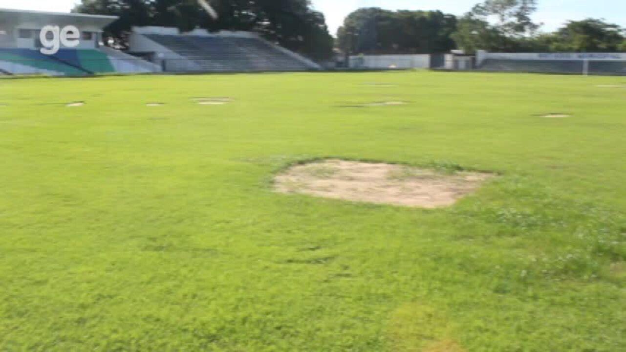 ASSISTA: Por conta de pragas no gramado, estádio Lindolfo Monteiro terá reinauguração adiada