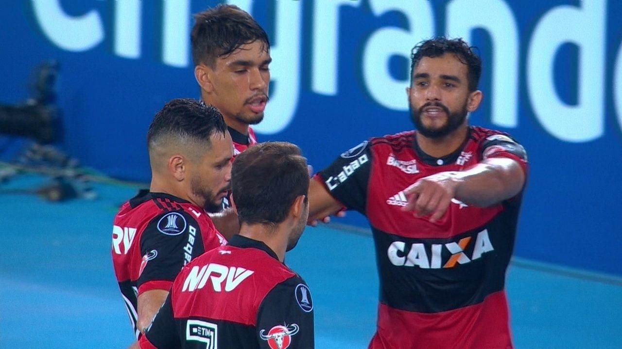 Os gols de Flamengo 2 x 2 River Plate pela primeira rodada da Taça Libertadores da América