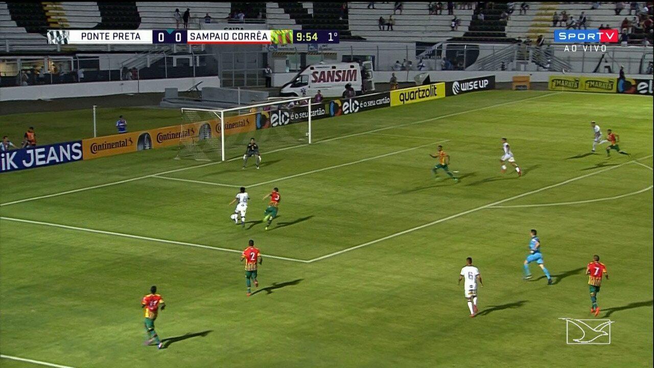 Ponte Preta e Sampaio ficam no empate sem gols na ida da terceira fase da Copa do Brasil