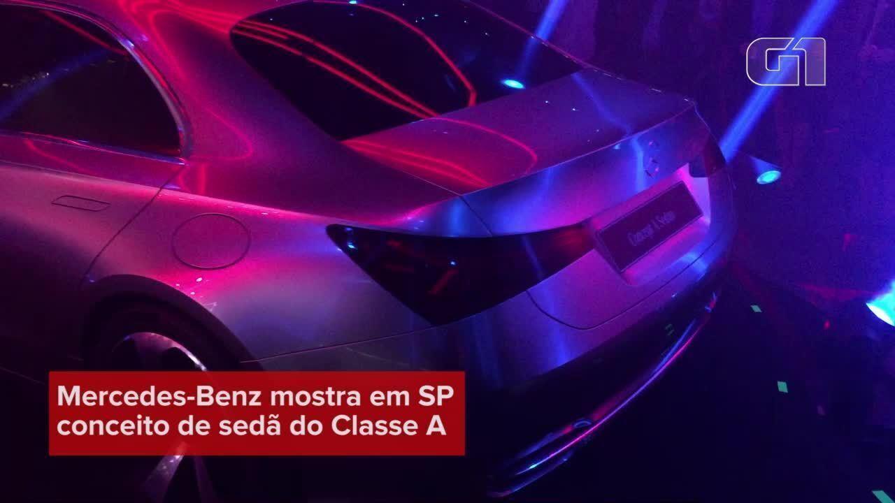 Mercedes-Benz mostra conceito de sedã do Classe A em SP