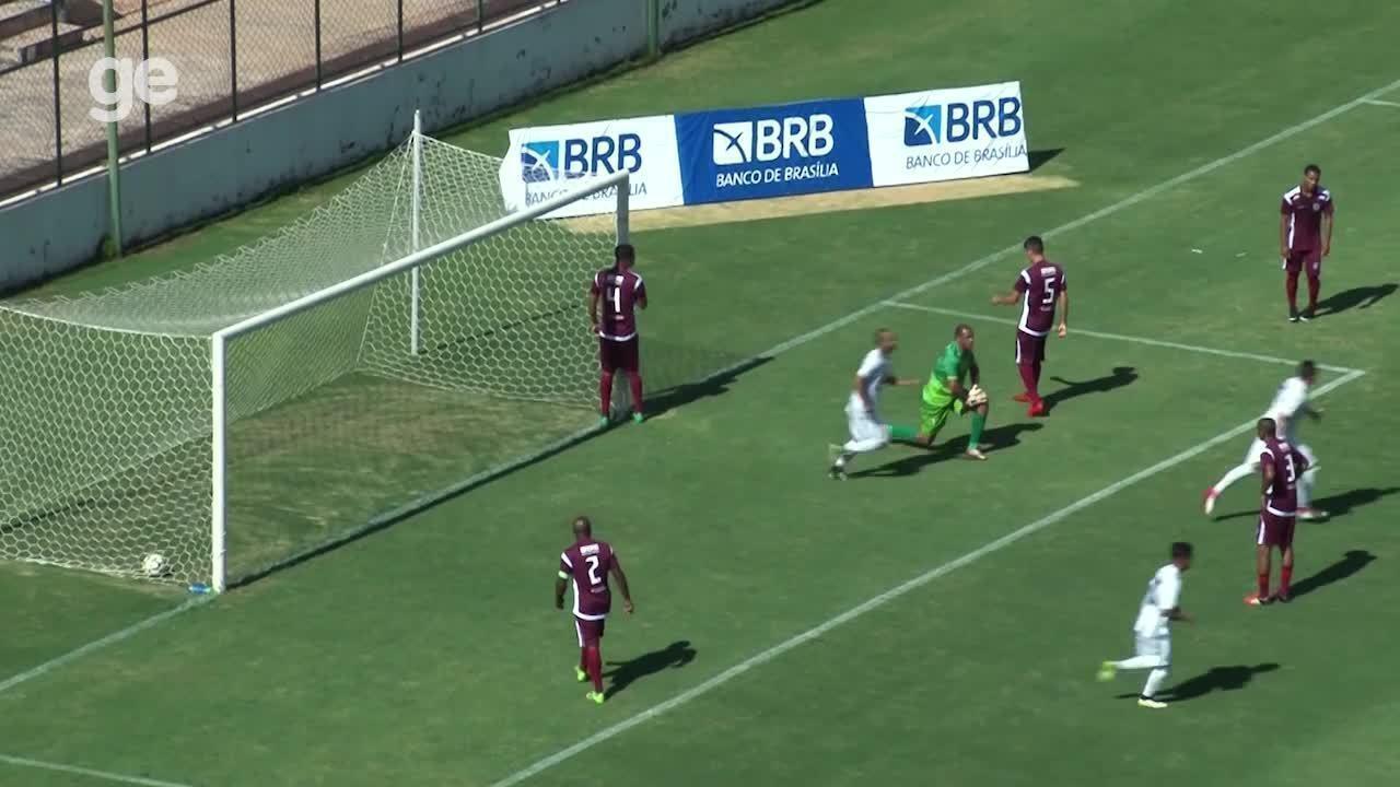Os gols de Santa Maria 1 x 2 Sobradinho pelo Campeonato Brasiliense 2018