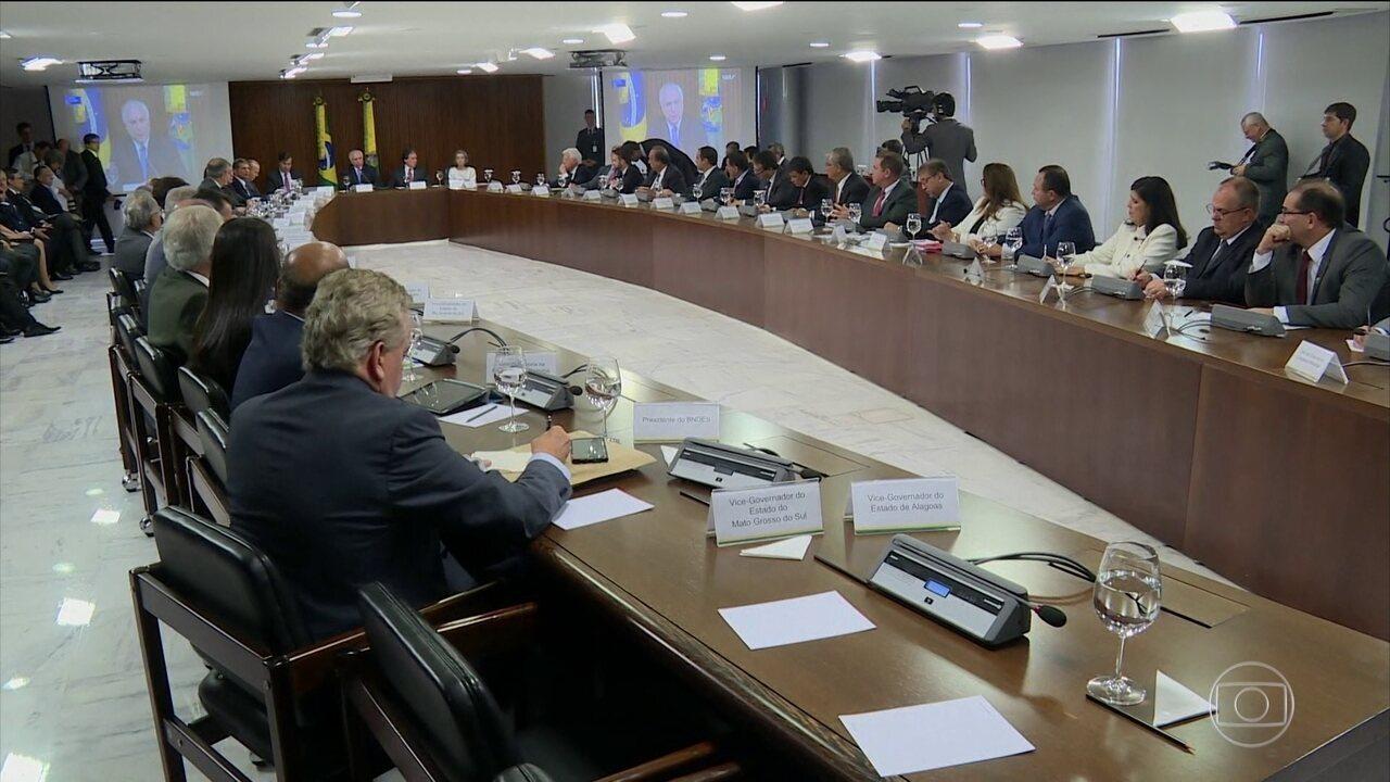 Temer oferece empréstimo de R$ 42 bi para segurança dos Estados