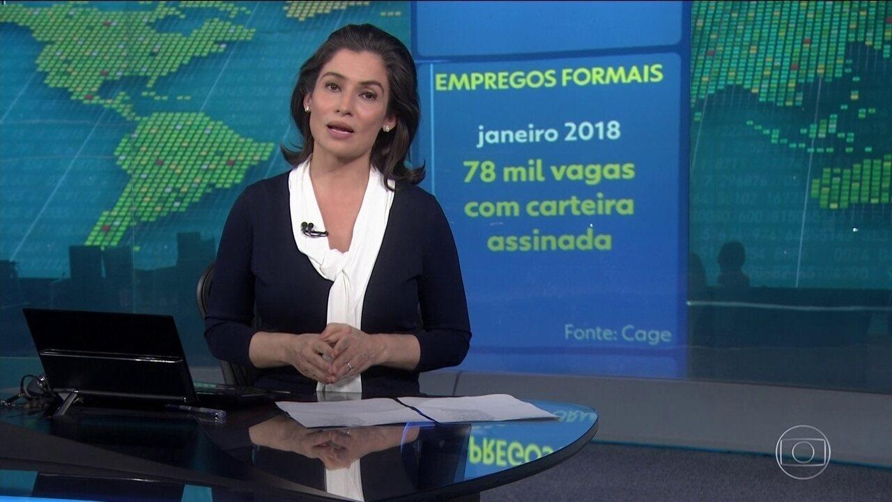 Brasil cria 78 mil vagas com carteira assinada em janeiro