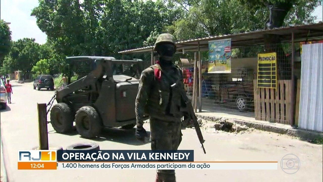 Forças Armadas realizam operação na Vila Kennedy