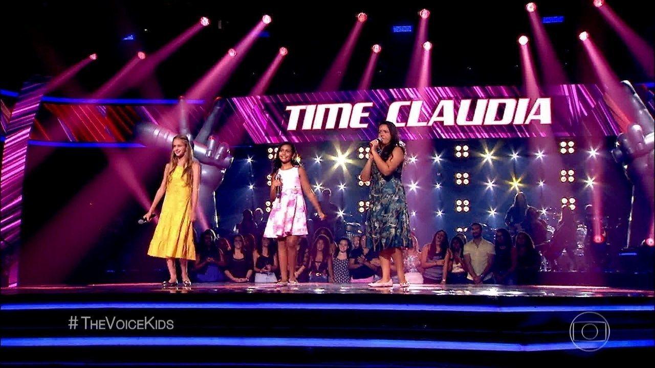 Na fase das Batalhas, Amanda Carregaro, Ludmila Bruck e Mariana Ribeiro cantam 'Mais uma Vez'