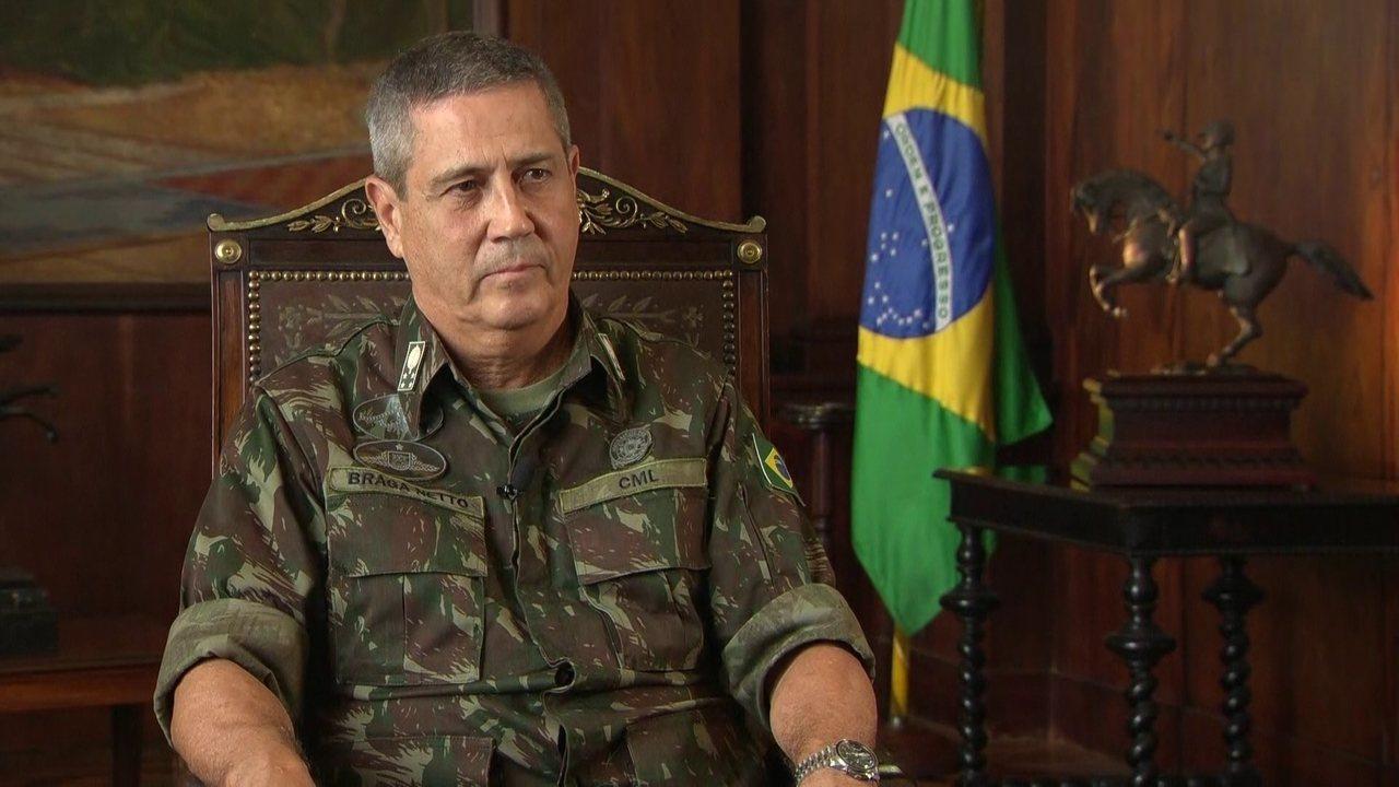 General Braga Netto explica intervenção federal no Rio de Janeiro