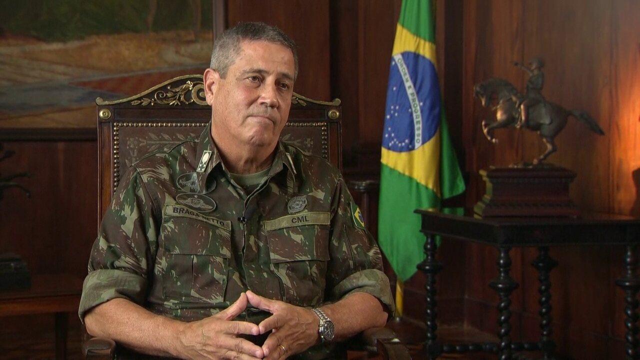 """""""Não existe território onde a polícia não entre no Rio"""", diz general Braga Netto"""