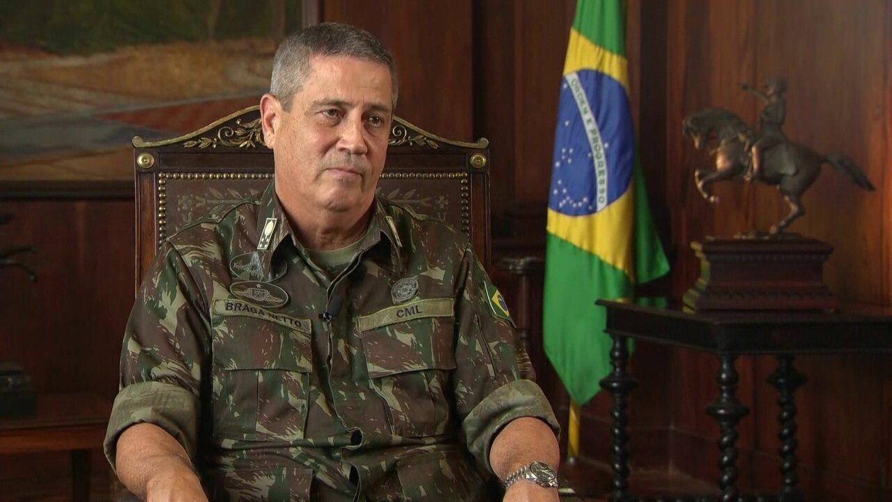 General Braga Netto fala sobre déficit de homens nas polícias Civil e Militar