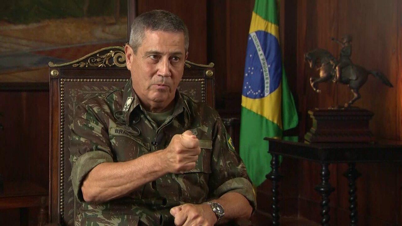 General Braga Netto afirma que 'não há fichamento de ninguém'