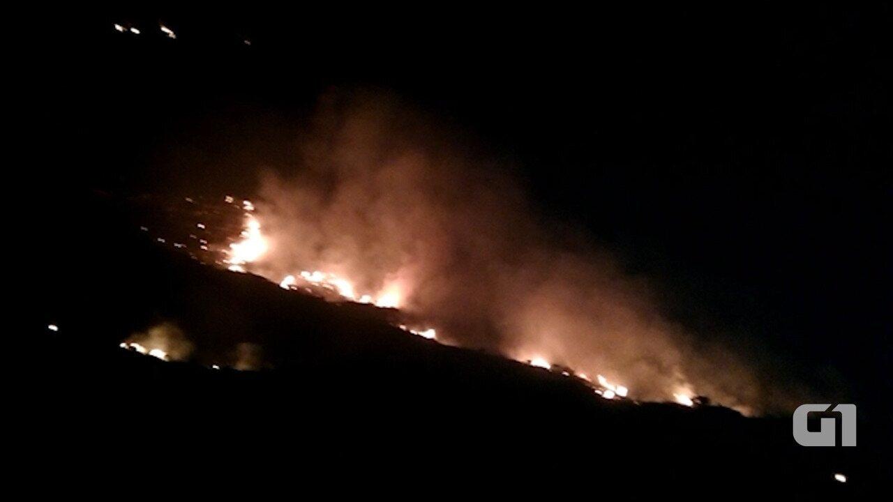 Incêndio atinge área do Parque Nacional da Chapada Diamantina, em Mucugê