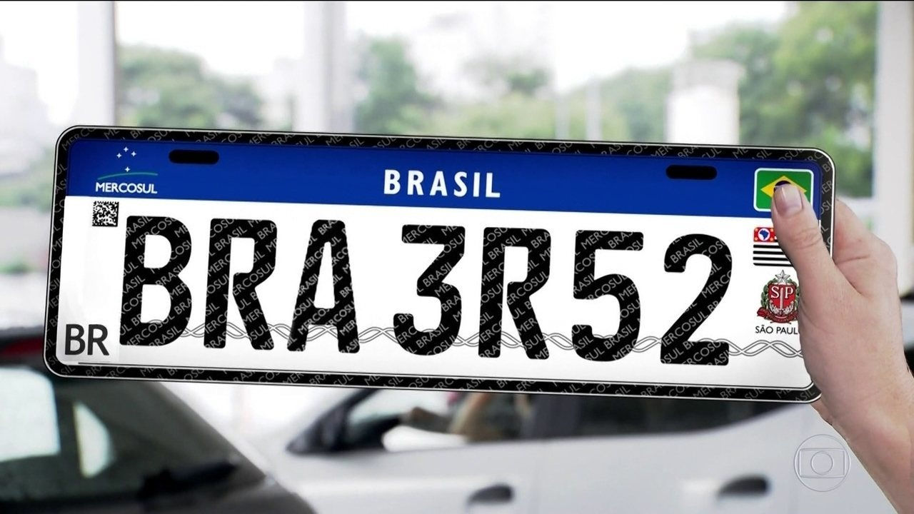 Placas de veículos devem começar a usar padrão do Mercosul daqui a 6 ... c6885221fefb2