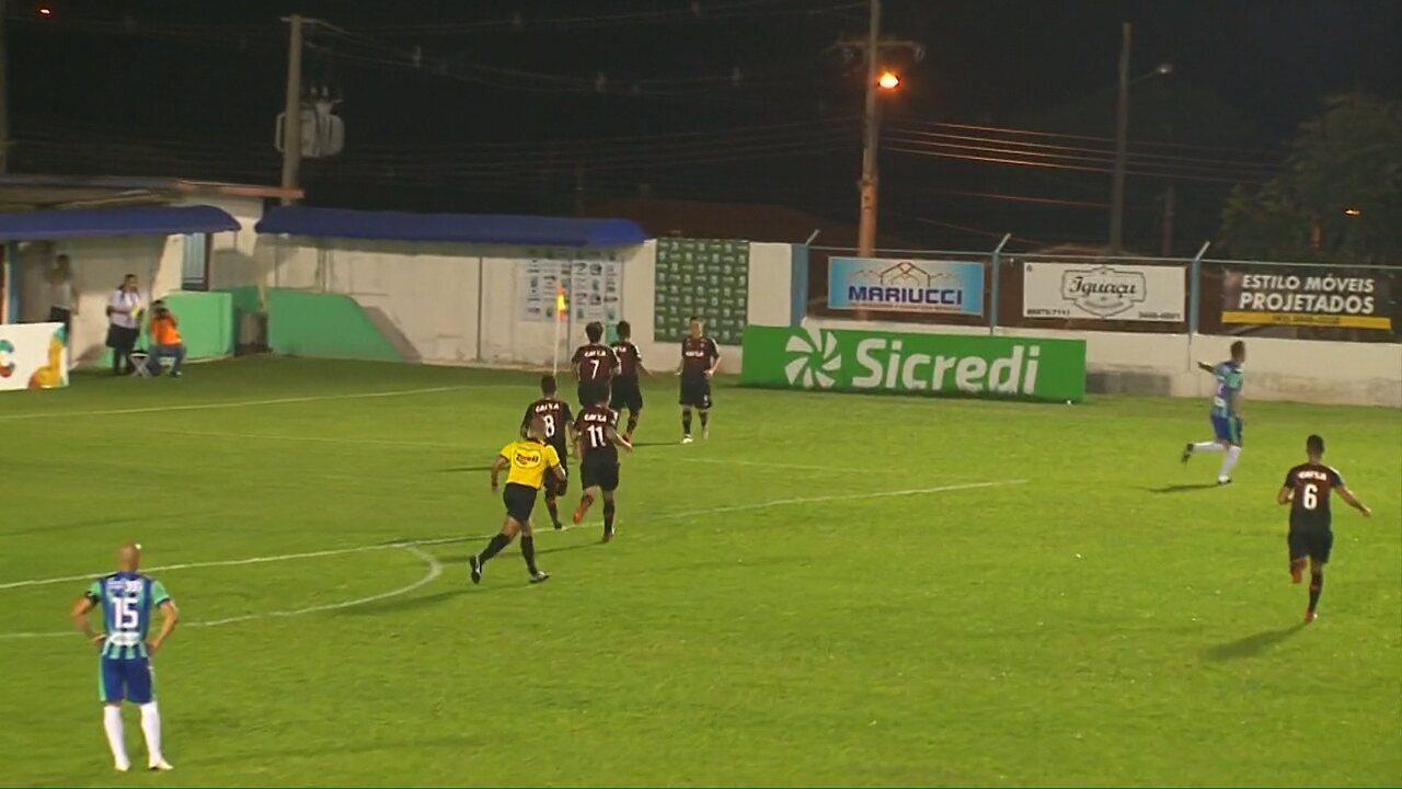 Gol do Atlético-PR! João Pedro toca para Ederson emendar de primeira e marcar