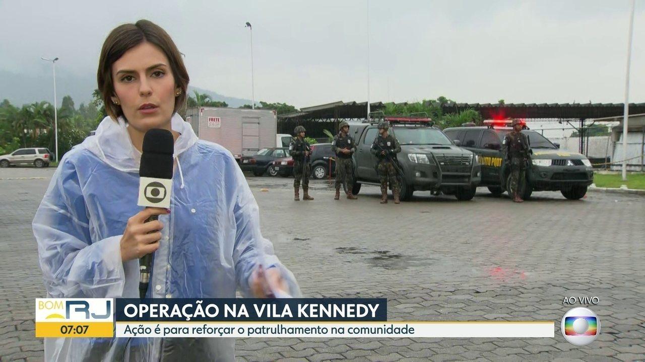Forças Armadas fazem mais uma operação na Vila Kennedy
