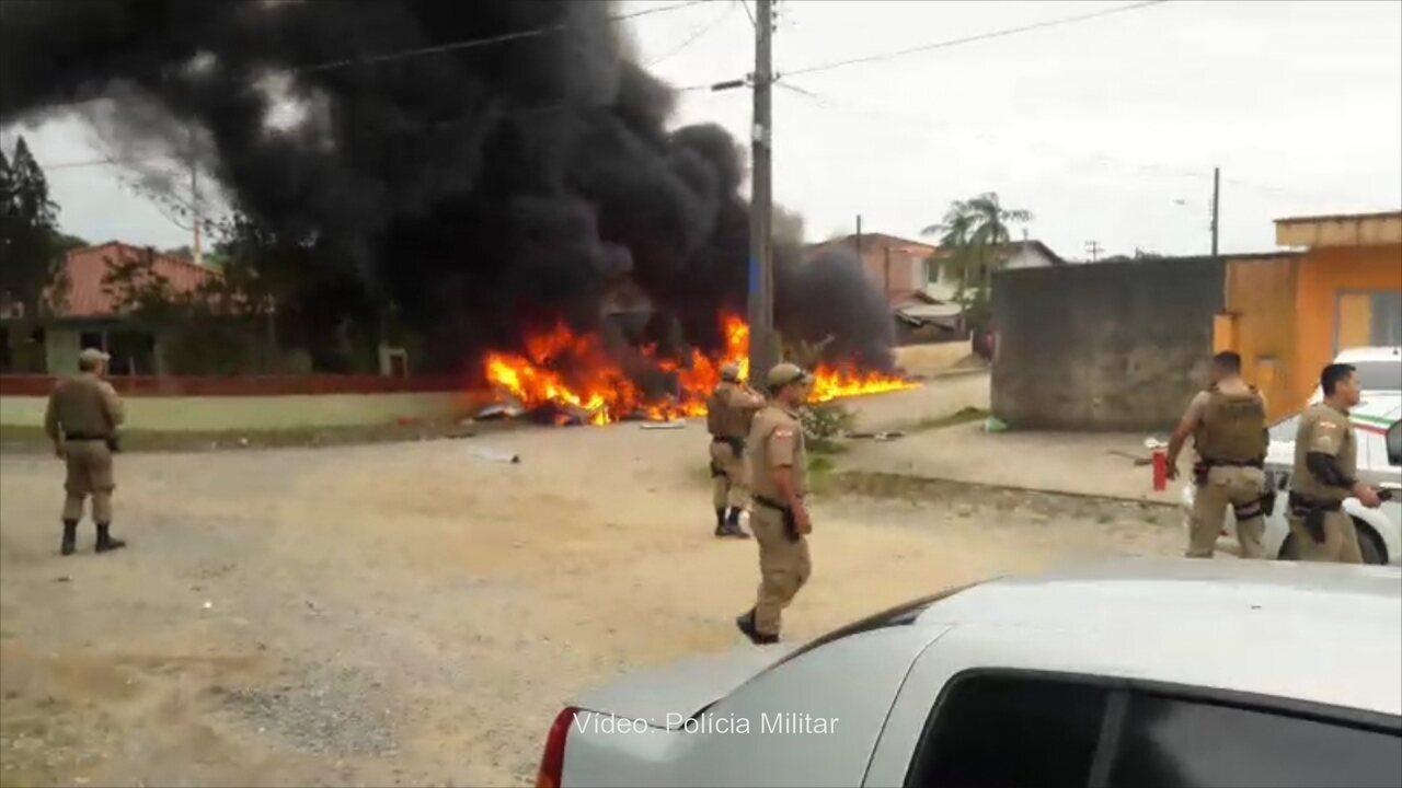 Queda de helicóptero deixa morto em Joinville, Norte de SC