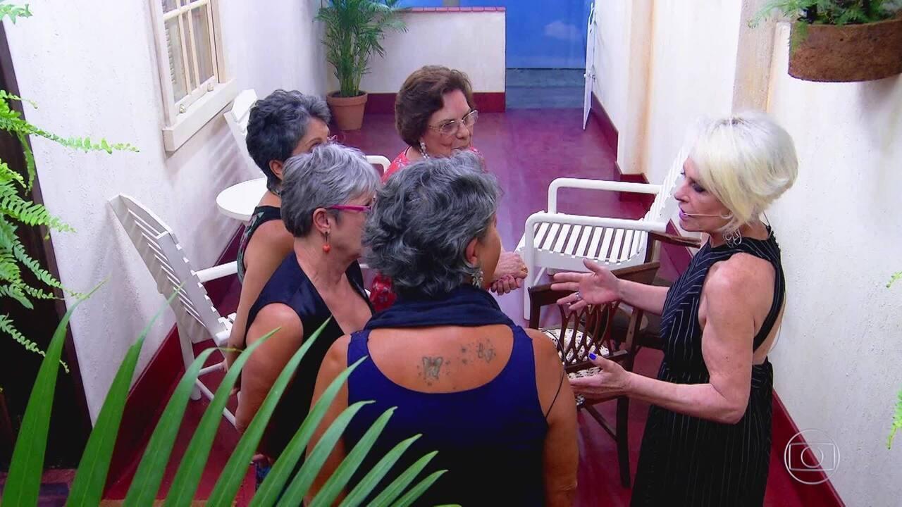 Ana Maria e amigas continuam conversando mesmo após o fim do Caldeirão