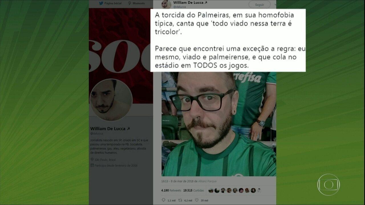 Torcedor do Palmeiras resgata debate da homofobia dentro dos estádios de futebol