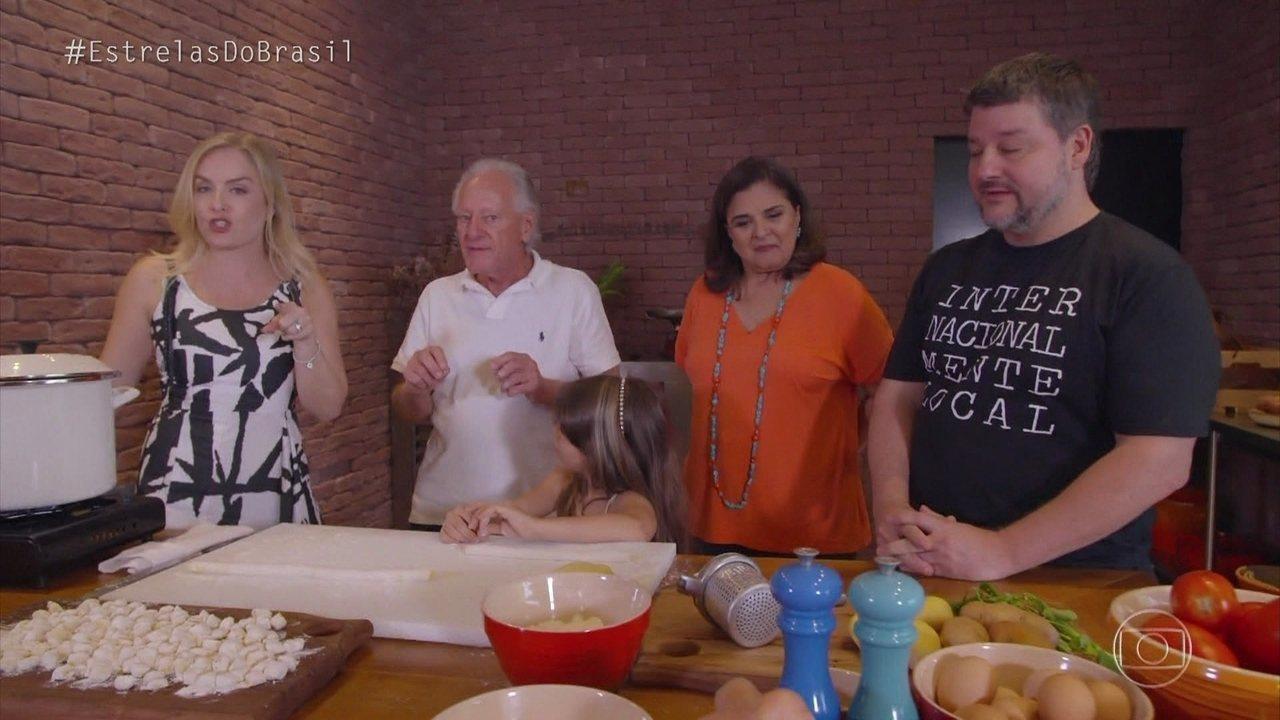 Angélica e Elizângela preparam nhoque consagrado do chef gaúcho Carlos Kristensen
