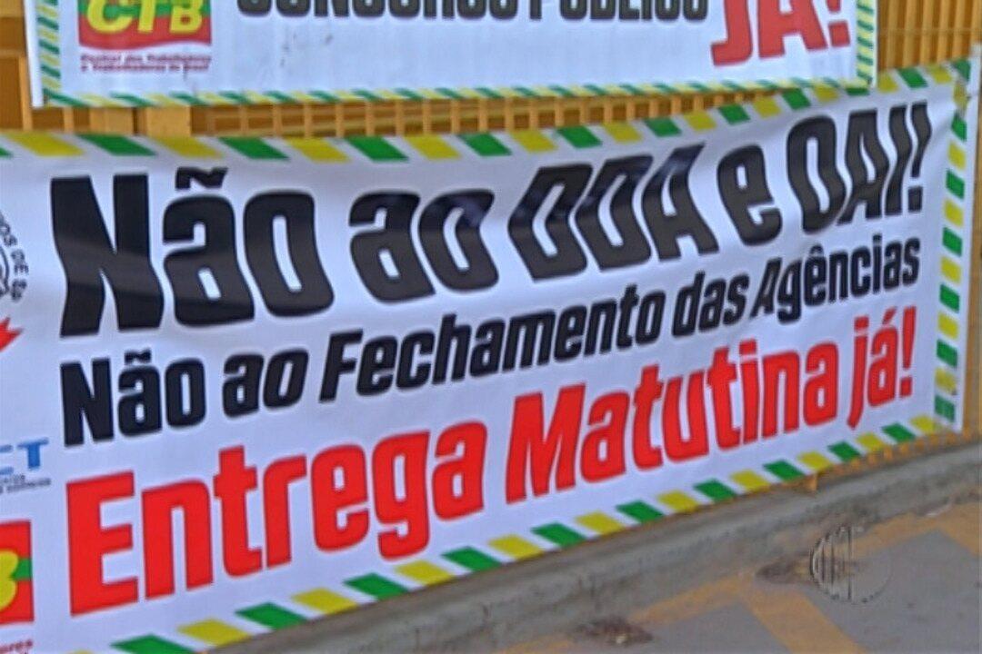 Funcionários dos Correios em Suzano entram em greve nesta segunda-feira (12)