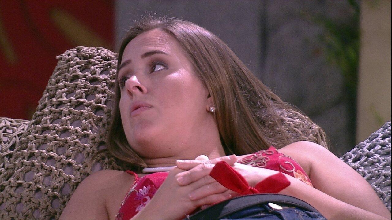 Patrícia: 'Cheguei para me deitar e estava a Gleici no canto que eu durmo'