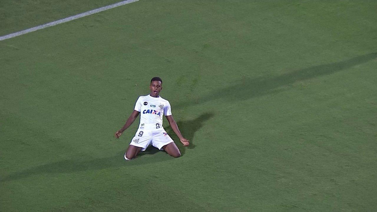 Os gols de Santos 3 x 1 Nacional-URU, pela Libertadores