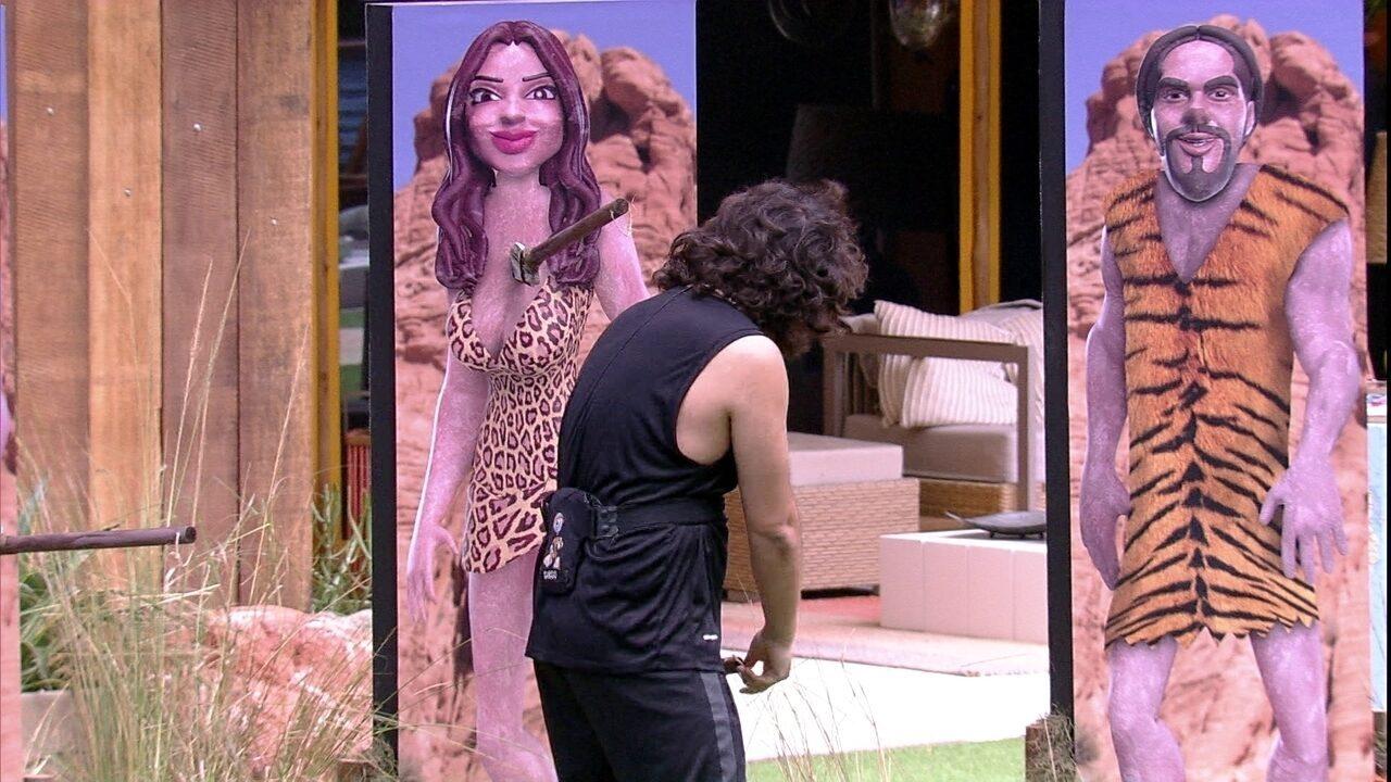 Prova do Anjo Homem da Caverna: Diego enfia lança em Paula