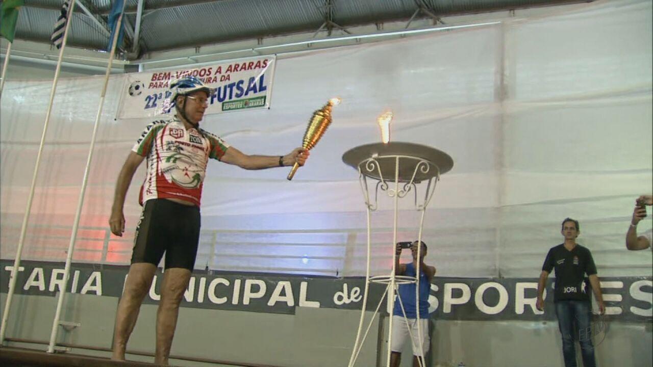 22ª Taça EPTV de Futsal tem abertura em Araras, SP, com 37 delegações