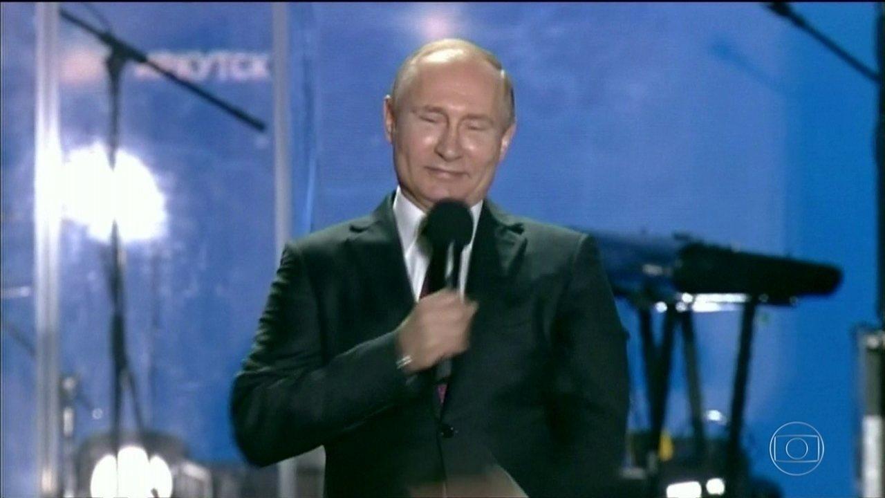 Às vésperas das eleições, Putin tem quase 70% das intenções de voto