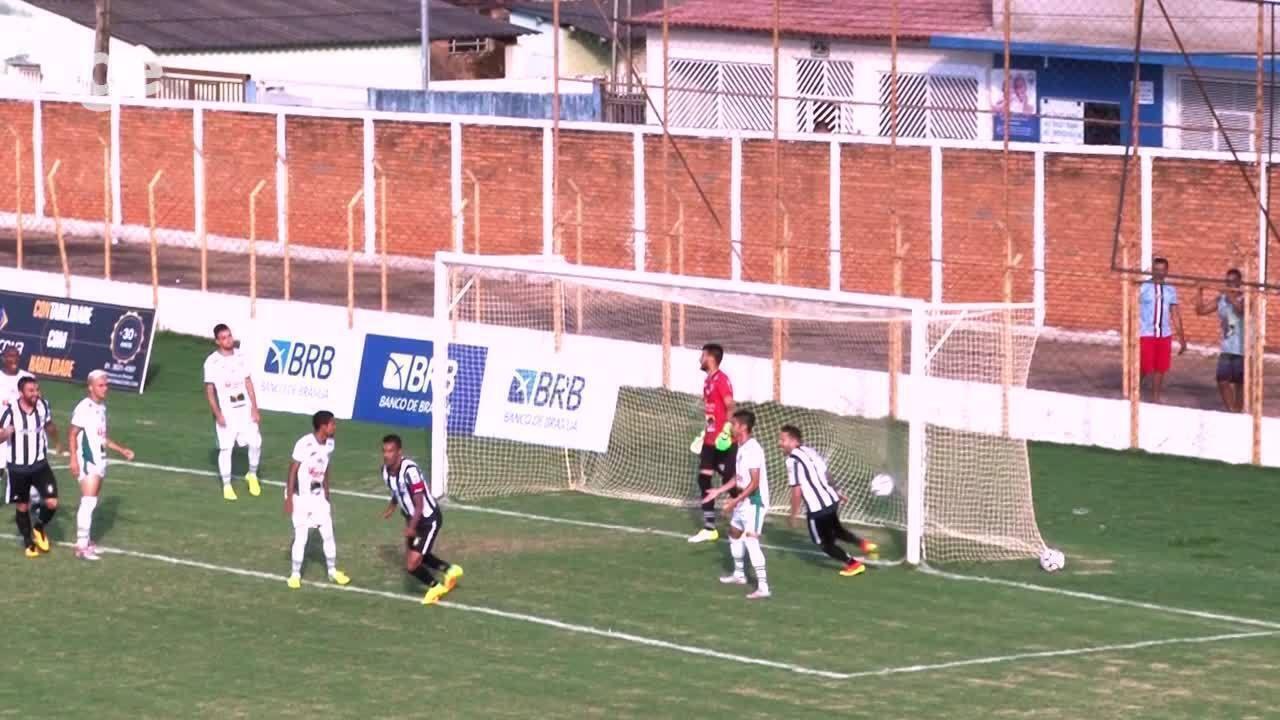 Os gols de Formosa 0 x 2 Ceilândia pelas quartas de final do Campeonato Brasiliense