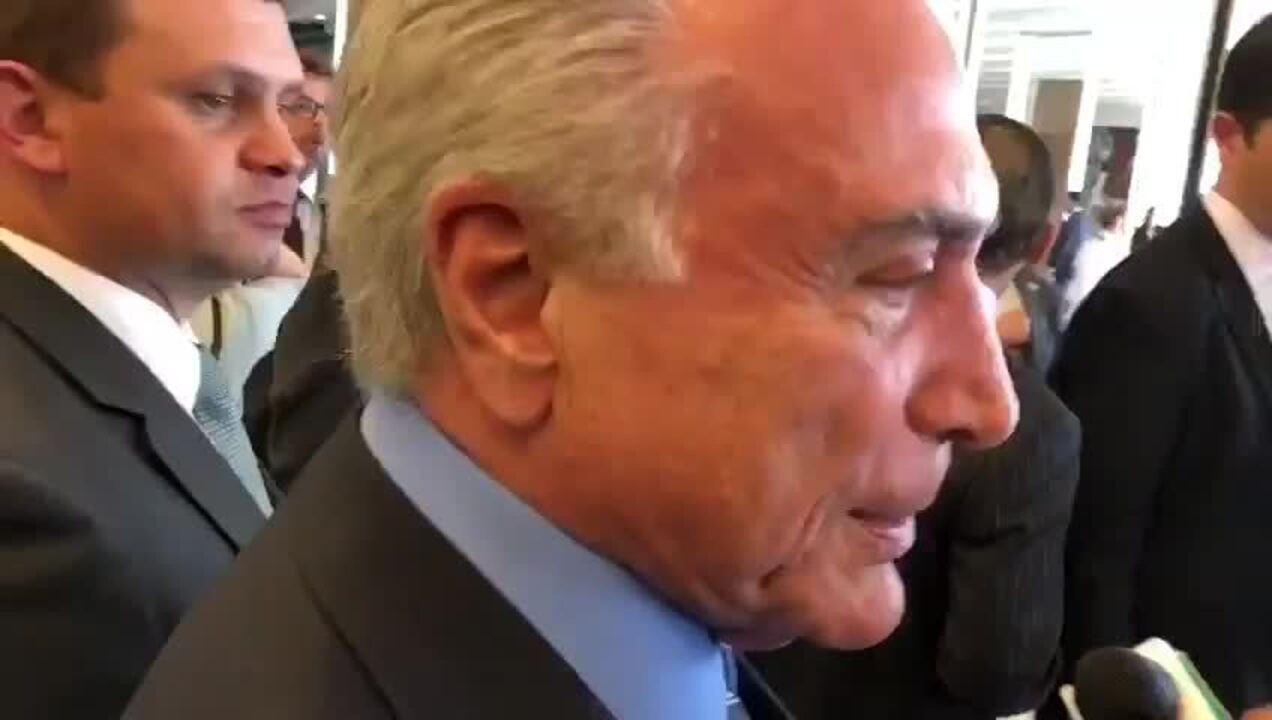 'Não é improvável', diz Temer sobre disputar reeleição para presidente