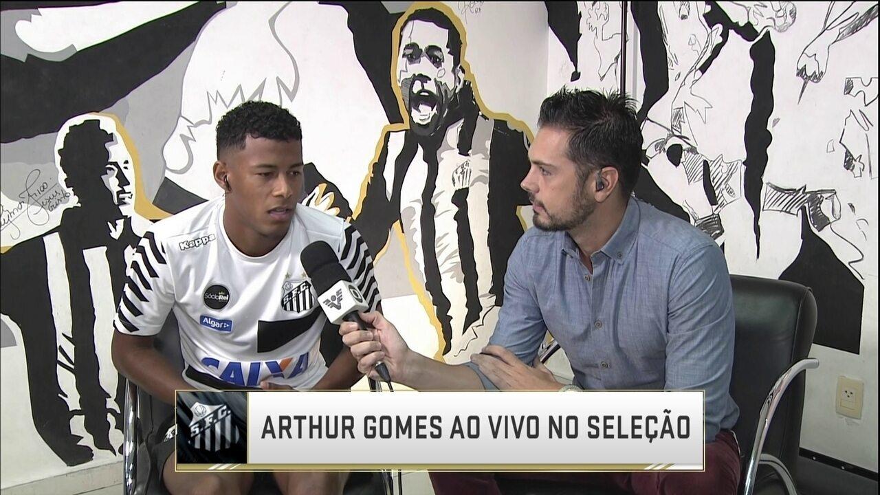 Arthur Gomes conta como foi bater o pênalti decisivo de Santos e Botafogo-SP