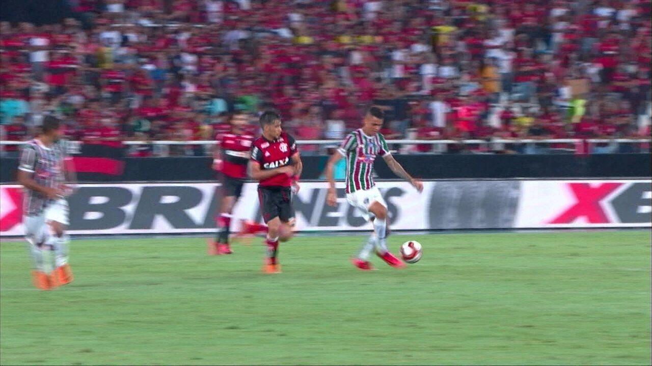 c2309cd9ad Melhores momentos de Fluminense 1 x 1 Flamengo pela semifinal da Taça Rio