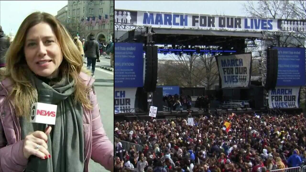 Estudantes começam a deixar protesto contra armas de fogo nos EUA