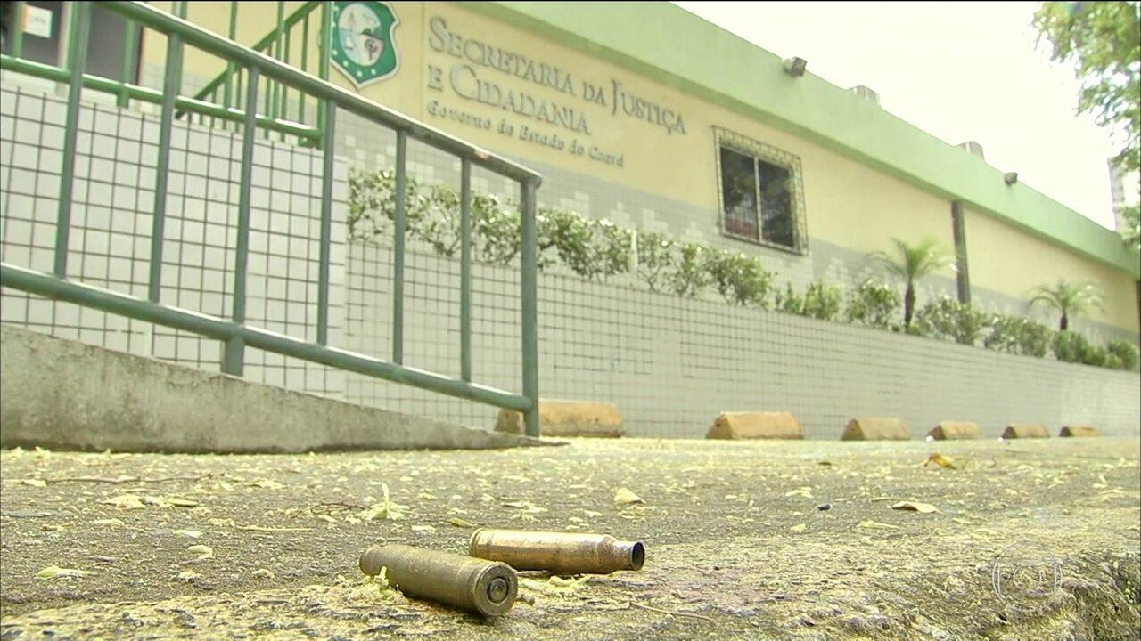 Três suspeitos morrem após ataque à Secretaria de Justiça do Ceará