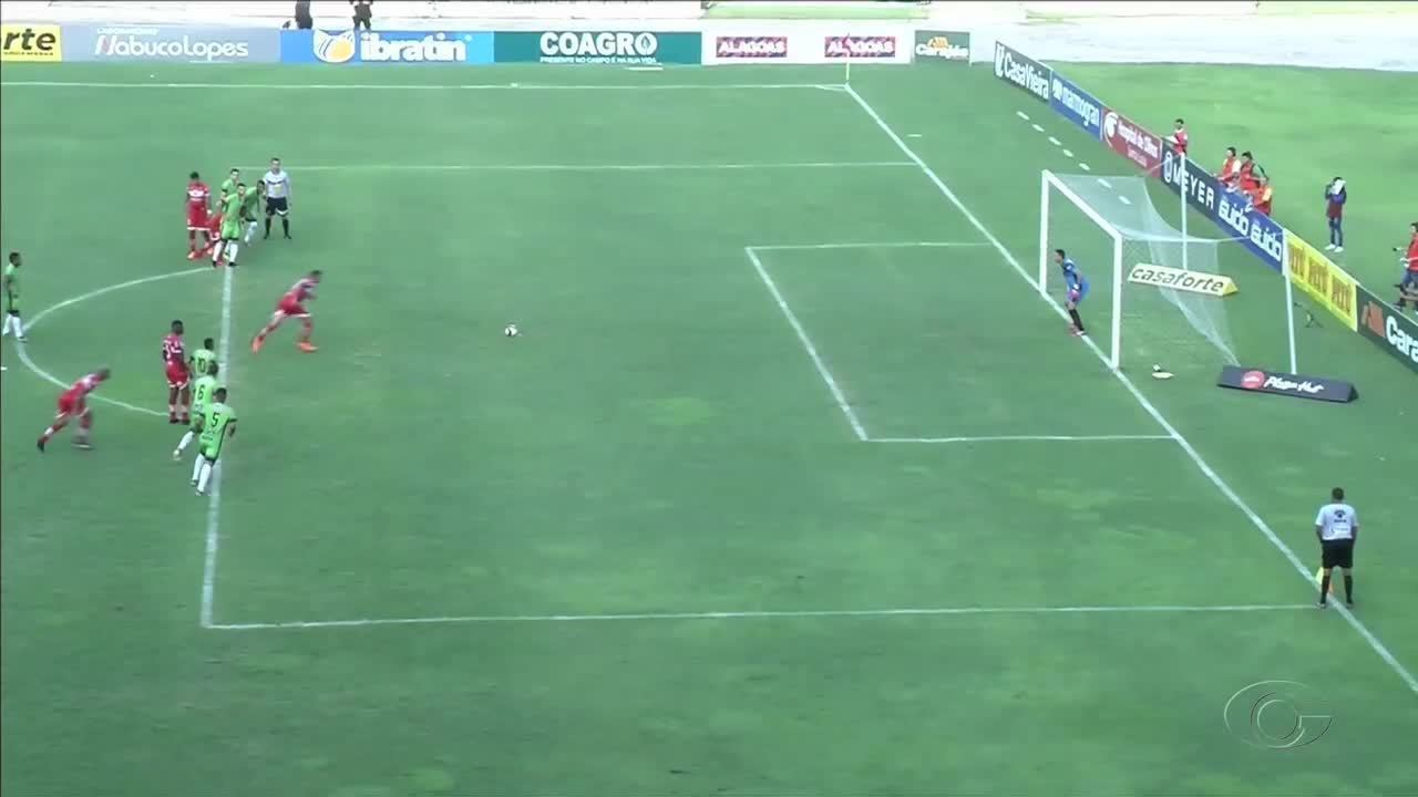 Os gols de CRB 2x0 Coruripe pelas semifinais do Alagoano