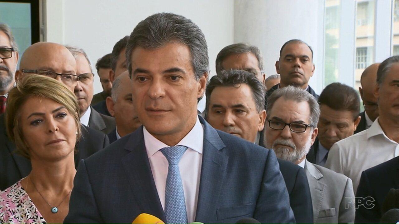 Beto Richa anuncia saída do governo para concorrer ao Senado