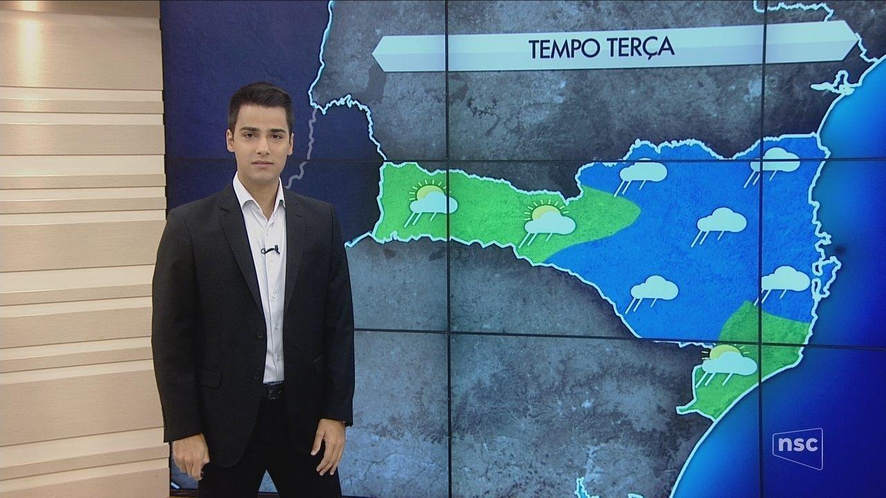 Confira a previsão do tempo para Santa Catarina para esta terça-feira (27)