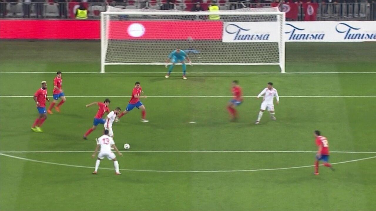 Melhores momentos de Tunísia 1 x 0 Costa Rica em amistoso internacional