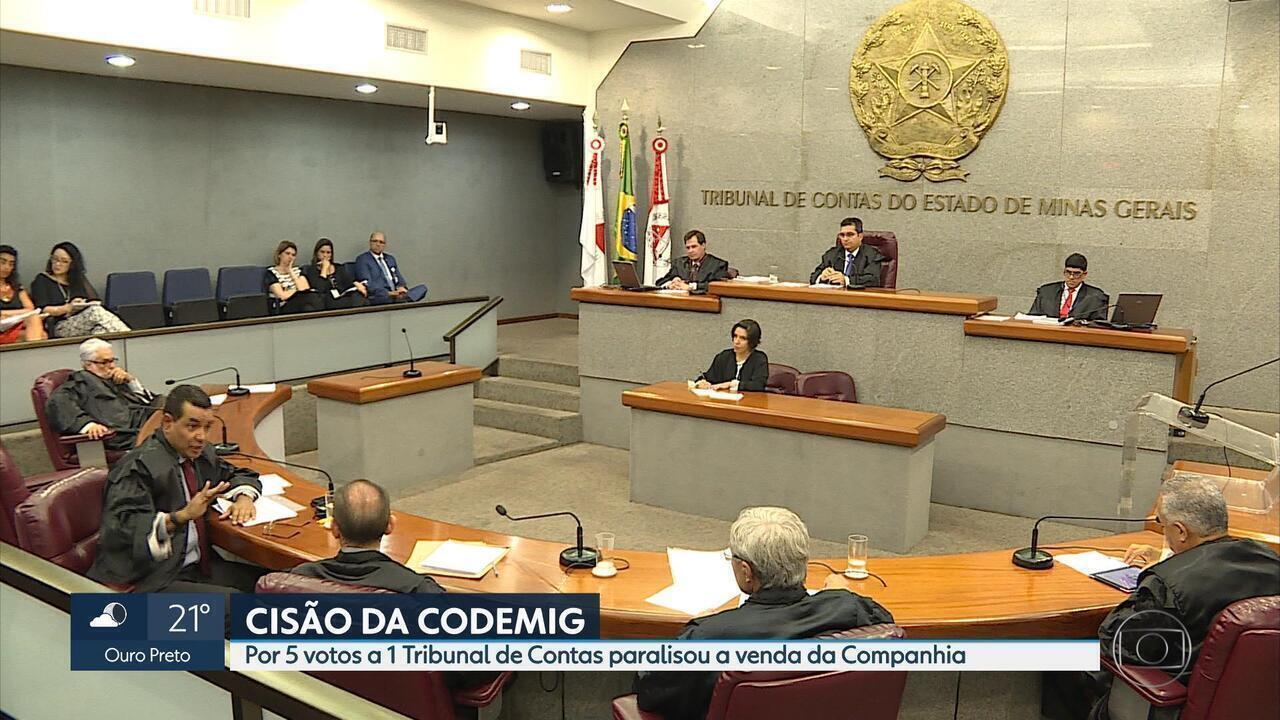 TCE suspende atos que visem cisão, cessão de cotas ou venda de ações da Codemig