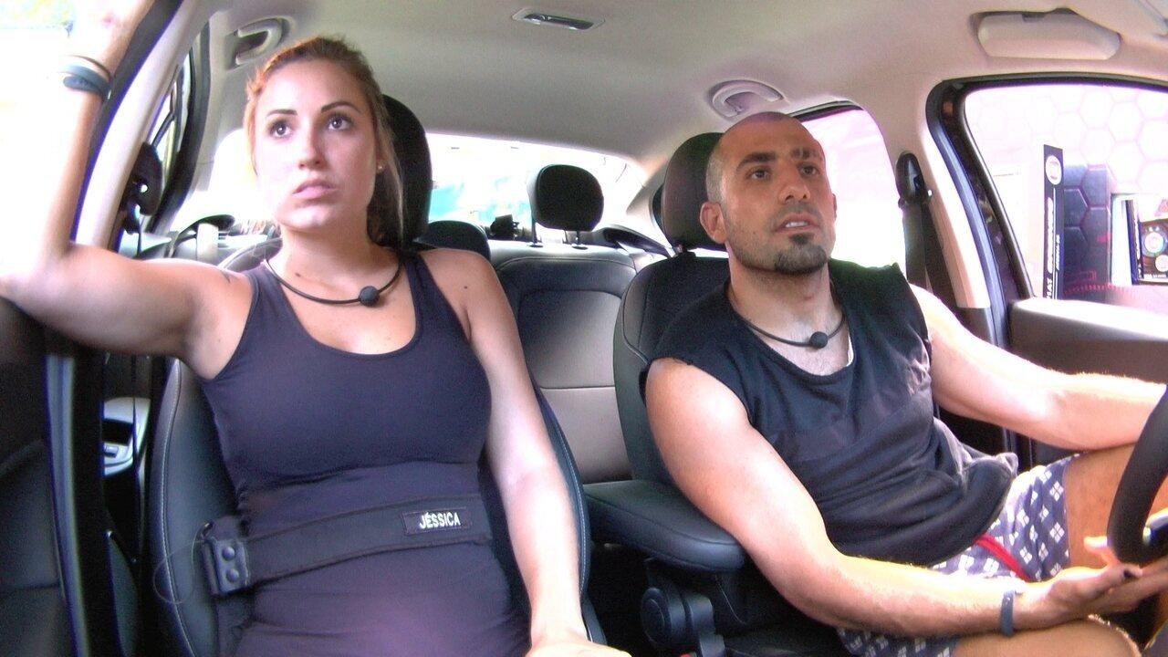Jéssica afirma para Kaysar na Prova do Líder: 'Breno vai dormir'