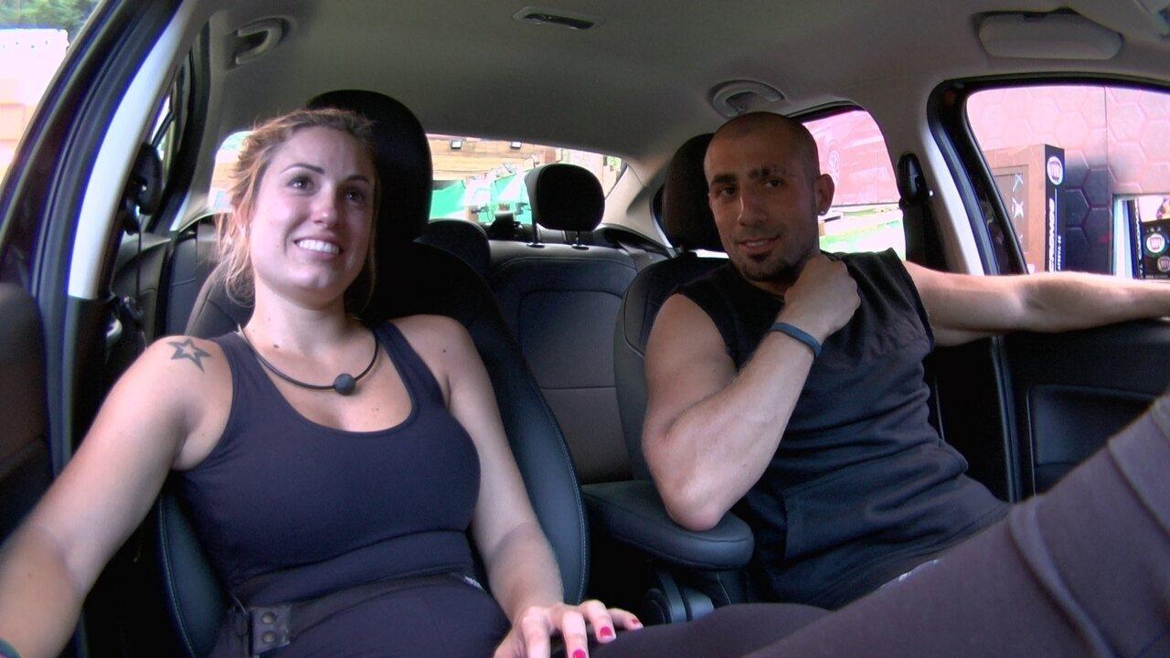 Jéssica e Kaysar fazem planos para a liderança