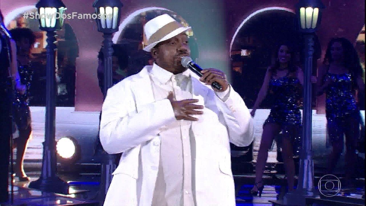 Mumuzinho estreia no 'Show dos Famosos' e homenageia Péricles