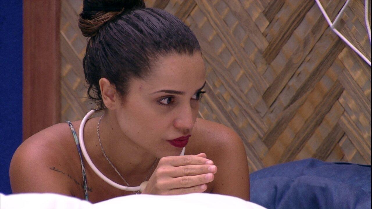 Paula revela torcida pela família Lima: 'Gosto muito da Ana e tenho um carinho pelo papito