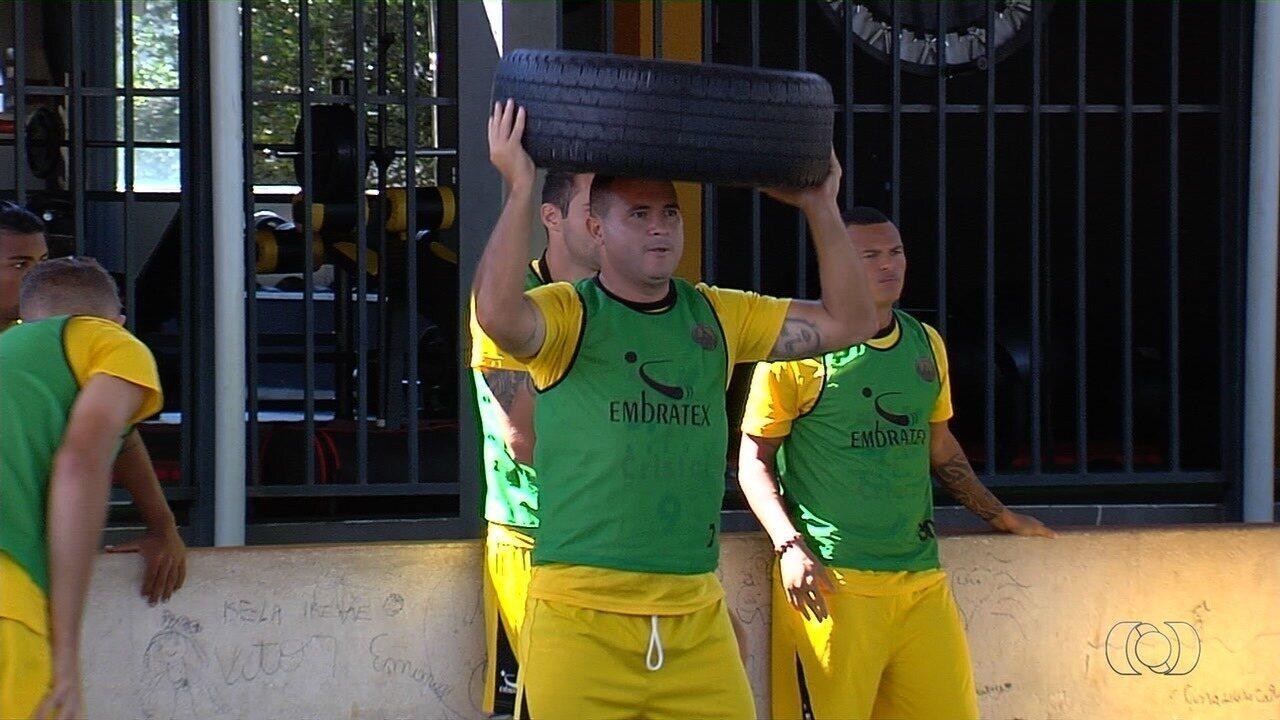 Nonato treina forte para o segundo jogo da final do Goianão