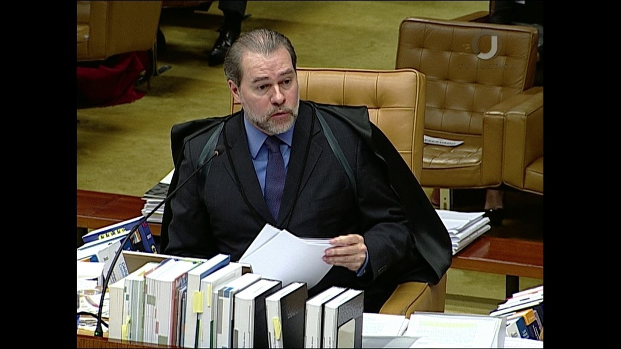 Dias Toffoli vota durante julgamento do habeas corpus para Lula