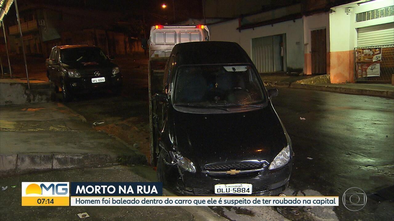 Suspeito de roubar carro é morto a tiros em Contagem, na Grande BH