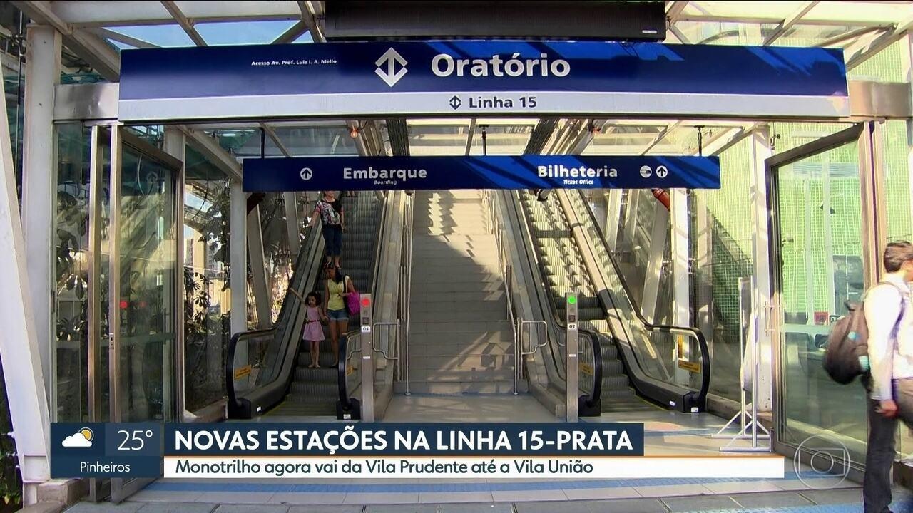 Metrô inaugura mais quatro estações