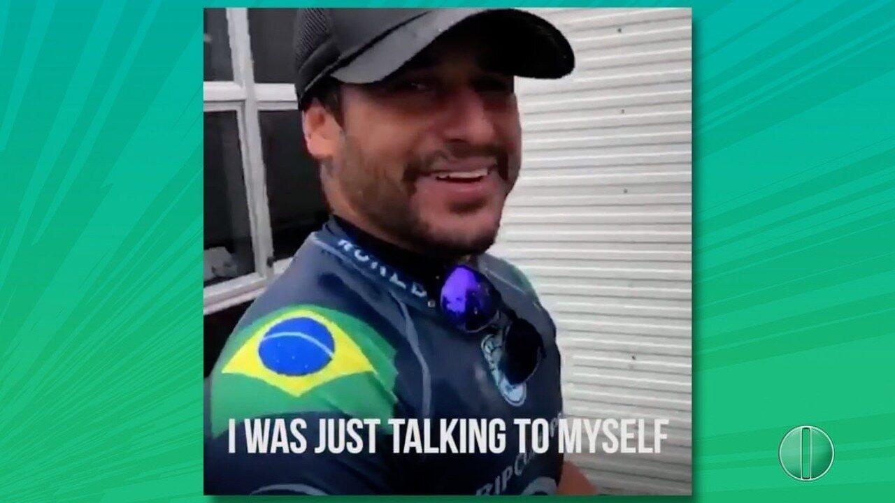 Potiguar Ítalo Ferreira comemora vitória no Mundial de Surfe na Austrália