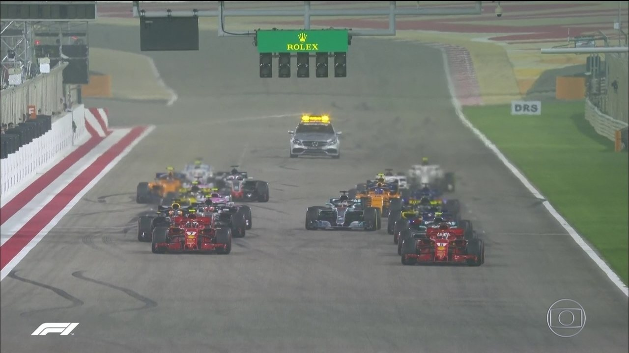 Largada para o GP do Barein de Fórmula 1